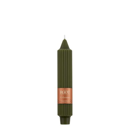 "7"" Grecian Collenette Dark Olive Single Candle"