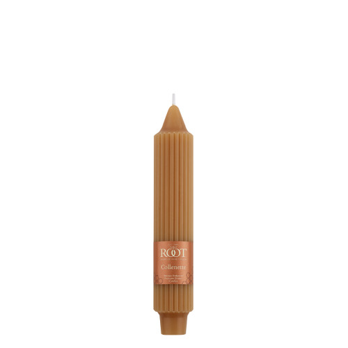 """7"""" Grecian Collenette Beeswax Single Candle"""