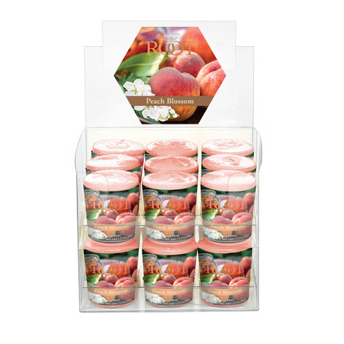 Peach Blossom 20 Hour Beeswax Blend Box of 18 Votives