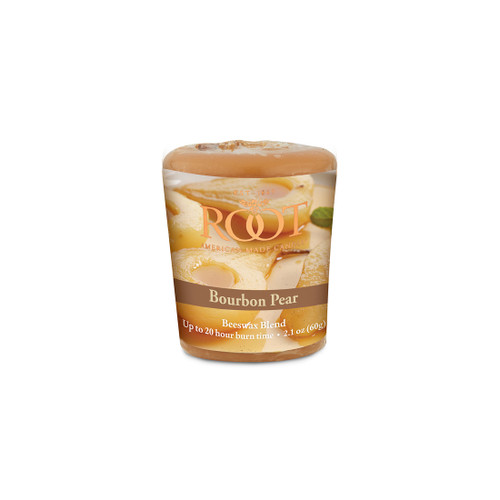 Bourbon Pear 20 Hour Beeswax Blend Votive