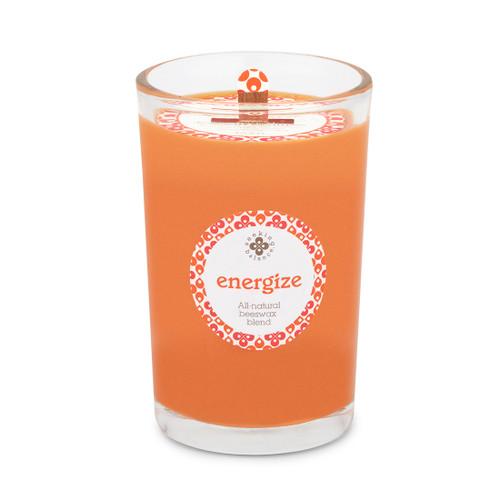 Seeking Balance® 8 oz Medium Spa Candle Rosemary Eucalyptus Energize