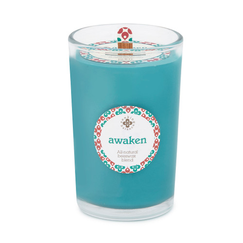 Seeking Balance® 8oz Medium Spa Candle Basil & Lime Awaken