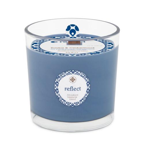 Seeking Balance® 12 oz Spa Candle Tonka and Cedarwood Reflect