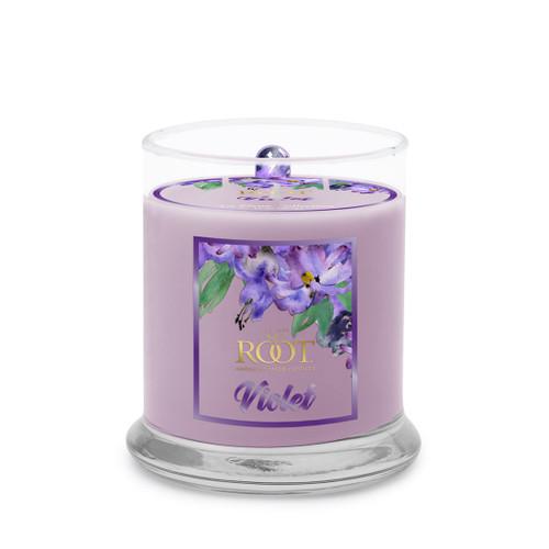 Violet La Fleur Medium 8.5 oz. Candle