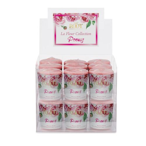 Peony La Fleur 20 Hour Beeswax Blend Box of 18 Votives