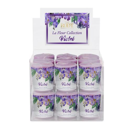 Violet La Fleur 20 Hour Beeswax Blend Box of 18 Votives