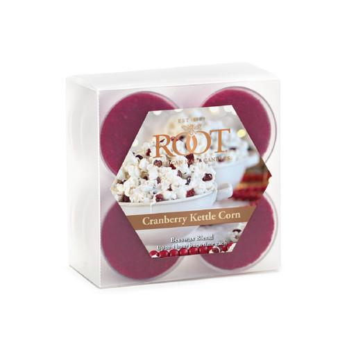 Cranberry Kettle Corn Beeswax Blend Tealights