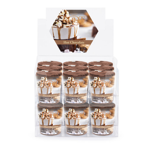 Hot Chocolate 20 Hour Beeswax Blend Box of 18 Votives