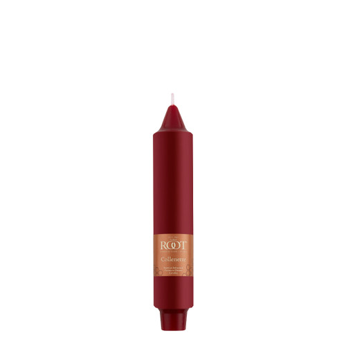 """7"""" Smooth Collenette Garnet Single Candle"""