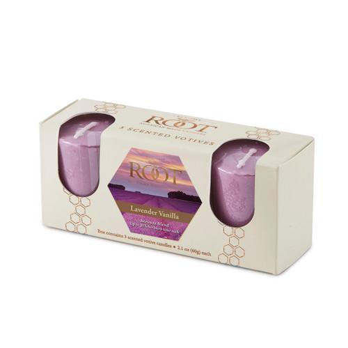 Lavender Vanilla 20 Hour Beeswax Blend Votive 3 Pack