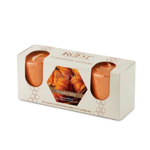 Pumpkin Spice 20 Hour Beeswax Blend Votive 3 Pack