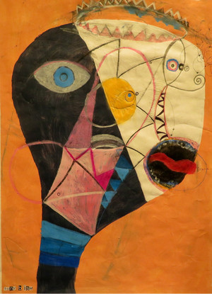 """Drama Queen - Mixed Media on Paper, 15 3/4 x 22"""""""