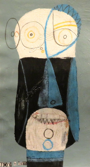"""MeSelfi - Mixed Media on Unstretched Canvas, 8 x 14 1/4"""""""