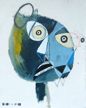 """Bump - Mixed Media on Unstretched Canvas, 13 1/2 x 17"""""""