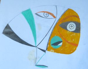 """Closer She Got…, The - Mixed Media on Paper, 18 1/2 x 14"""""""