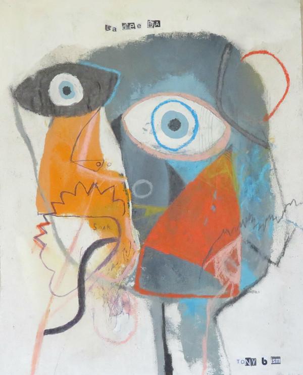 "Soak - Mixed Media on Unstretched Canvas, 13 x 17"""