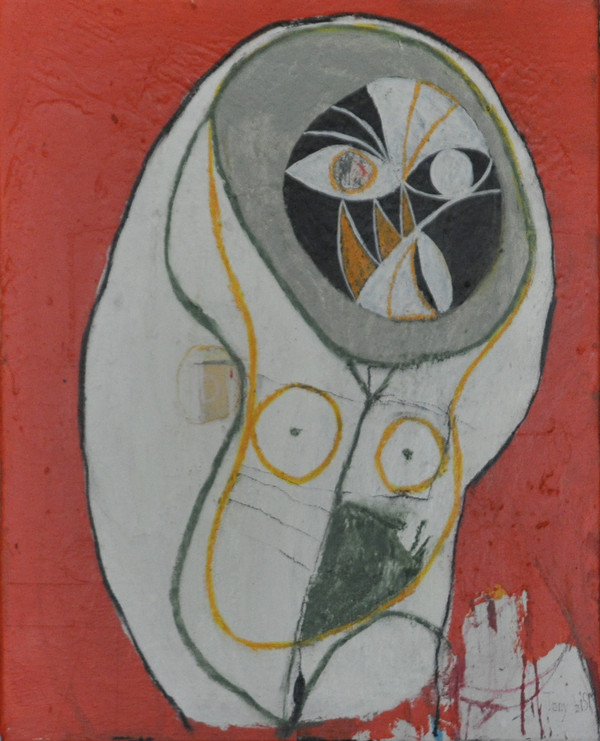 """Acrylic & Oil Stick on Canvas.  Unframed.  20 x 16"""""""