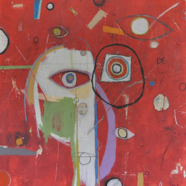 """Acrylic, Oil Stick & Pencil on Canvas.  Gallery Wrapped. 36 x 36"""""""