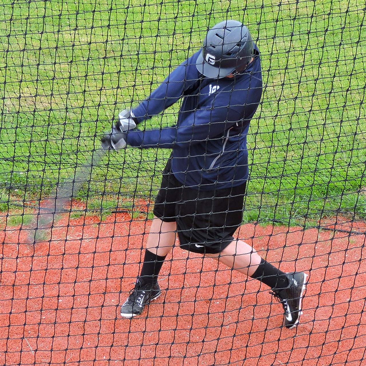 Batting Cage Net 12/' x 12/' x 70/' #36 HDPE Heavy Duty Baseball Softball Netting