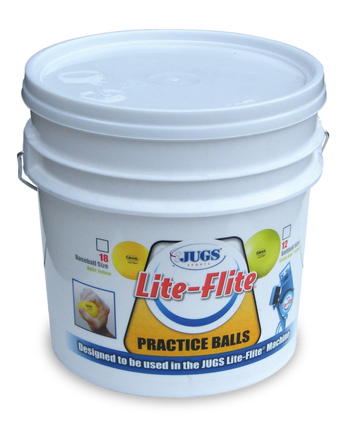 Bucket of Lite-Flite® Baseballs or Softballs