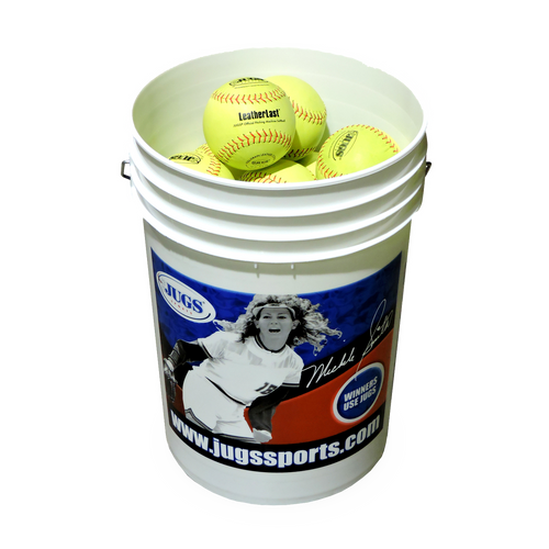 Bucket of JUGS LeatherLast™ Softballs