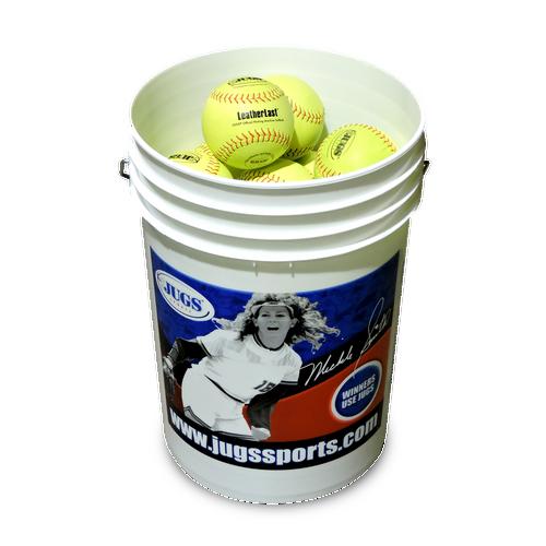 Bucket of JUGS LeatherLast™ Softballs