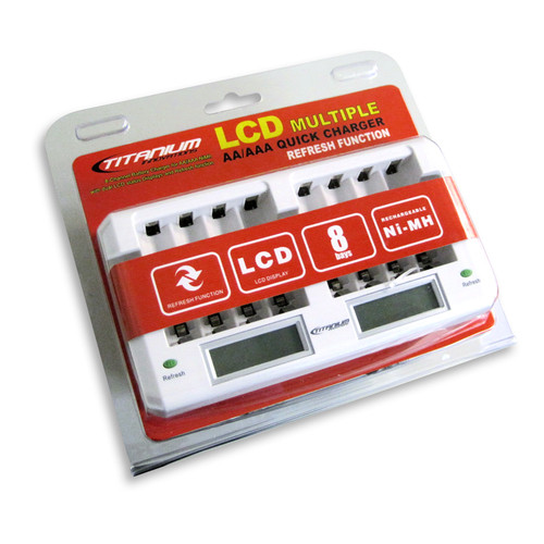 LCD AA Battery Quick Charger