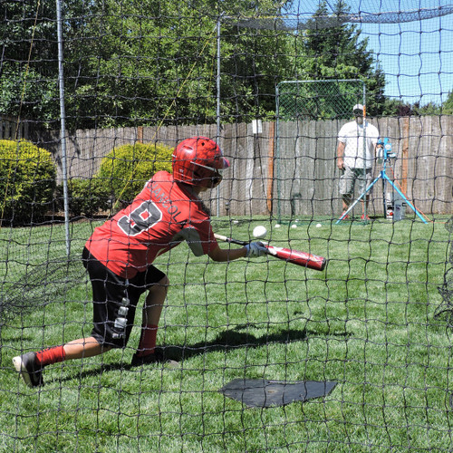 "20/' x 9/'  Economical Soccer Sports Net 2/"" Batting Cage Netting Backstop  #7"