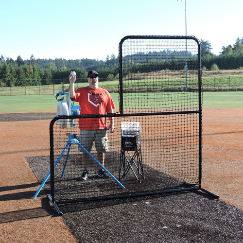 Standard L-Shaped Pitchers Screen