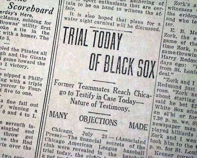 The Black Sox Scandal: A Look Back at Little-Known Facts