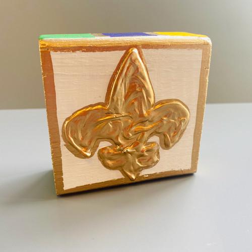 Fleur-de-lis Art Block | Small