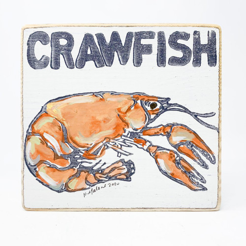 Crawfish Wood Sign