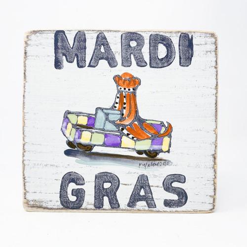 Mardi Gras Wood Sign