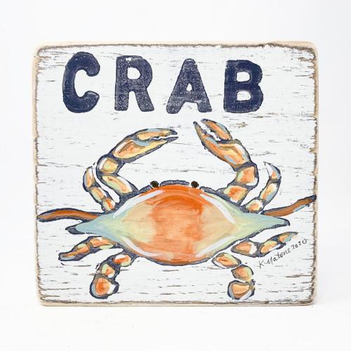 Crab Wood Sign