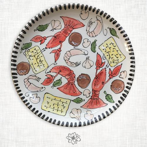 Crawfish Round Platter