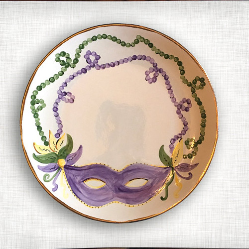 Mardi Gras Round Platter