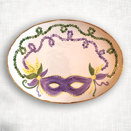 Mardi Gras Oval Platter