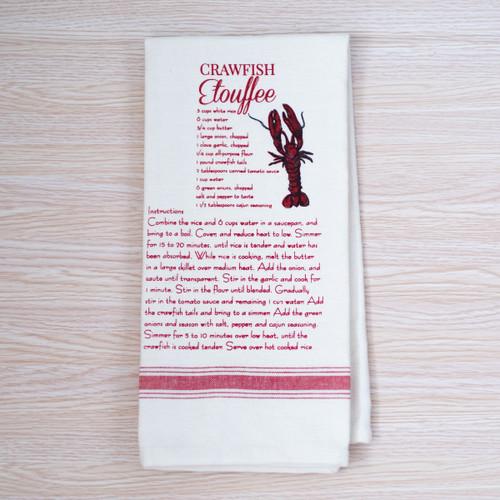 Crawfish Recipe Hand Towel
