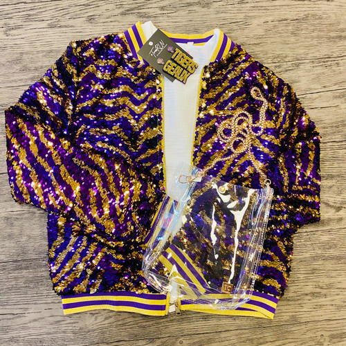 Tiger Stripe Sequin Jacket