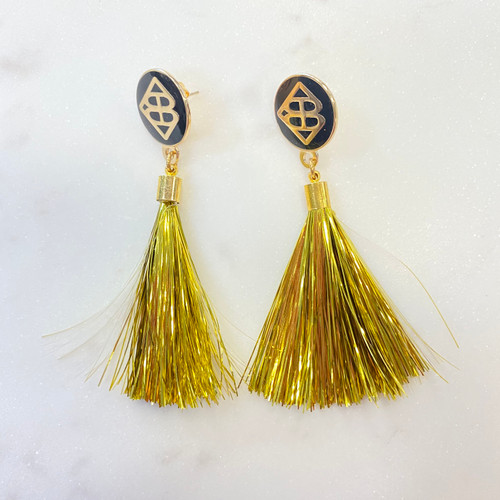 Saints Earrings Tassel