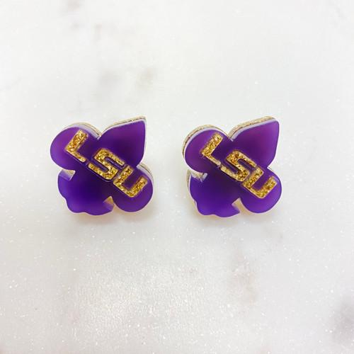 LSU Earrings FDL