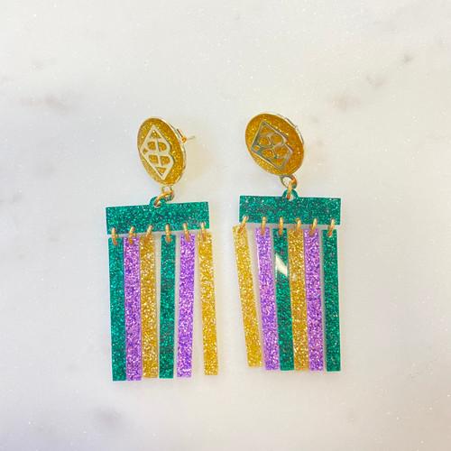 Mardi Gras Earrings Dangles