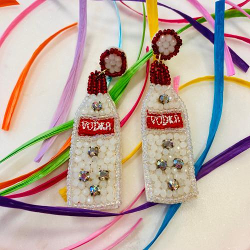 Vodka Embellished Earring