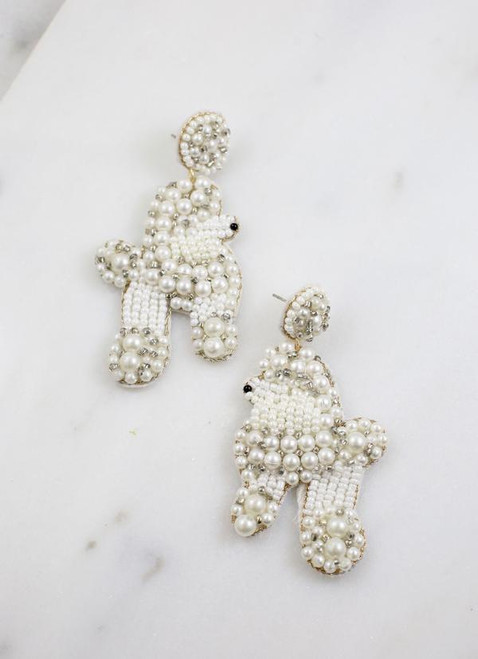 Poodle Embellished Earring