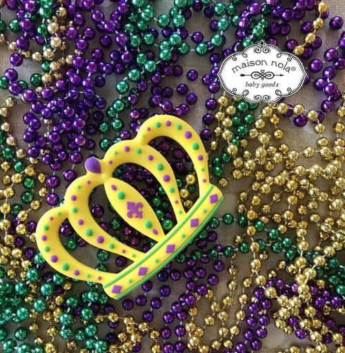 Mardi Gras Big Crown Teether