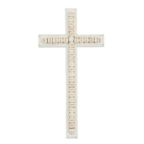 Beaded Wood Cross