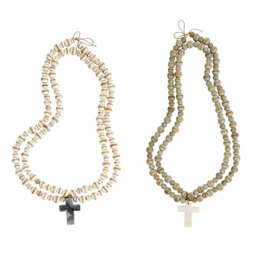 Marble Cross Beads