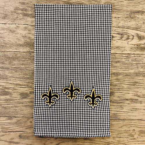 Towel -Black/White Check FDL