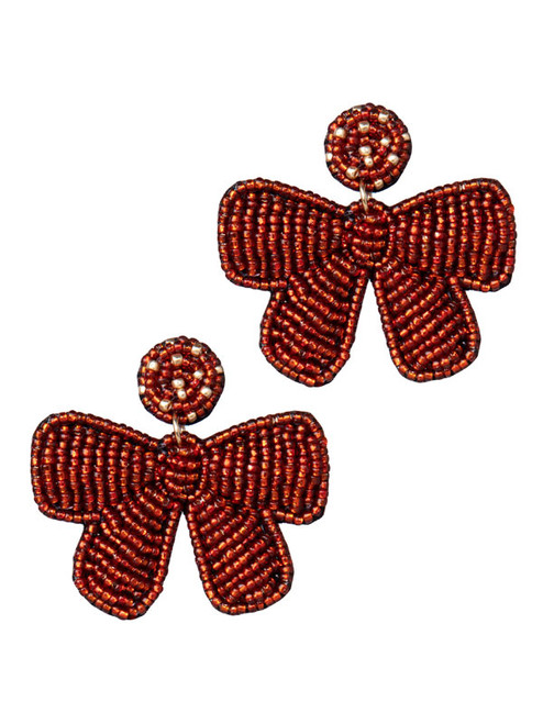 Christmas Red Bow Earrings