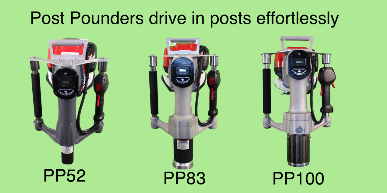 Post Pounders for driving in posts effortlessly